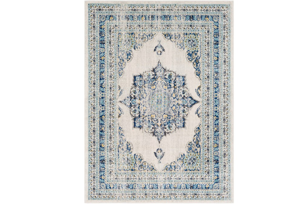 47X67 Rug-Ivete Medallion Blue/Yellow