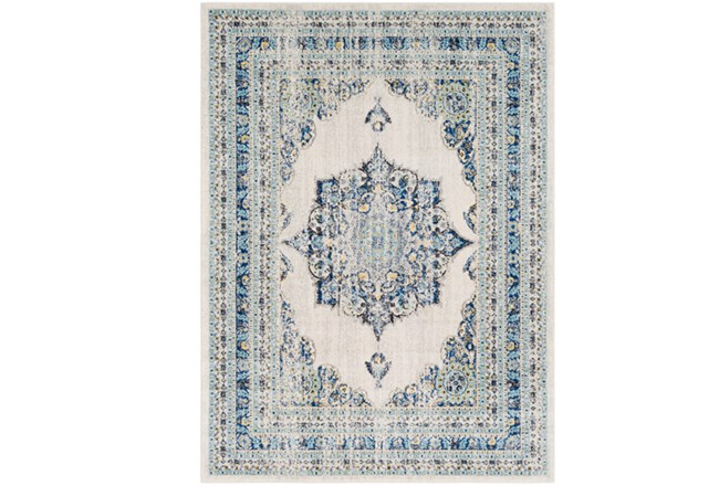 47X67 Rug-Ivete Medallion Blue/Yellow - 360