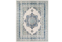 94X123 Rug-Ivete Medallion Blue/Yellow