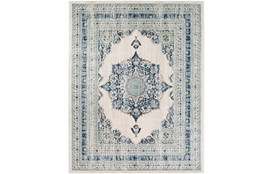"9'2""x12'5"" Rug-Ivete Medallion Blue/Yellow"