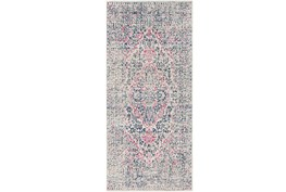 31X87 Rug-Ivete Antique Medallion Garnet/Dark Blue