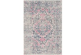 47X67 Rug-Ivete Antique Medallion Garnet/Dark Blue