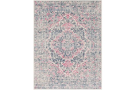 94X123 Rug-Ivete Antique Medallion Garnet/Dark Blue