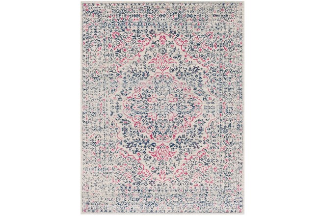 94X123 Rug-Ivete Antique Medallion Garnet/Dark Blue - 360