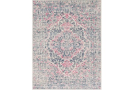 111X150 Rug-Ivete Antique Medallion Garnet/Dark Blue