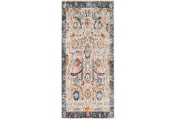 31X87 Rug-Katari Dark Blue/Orange