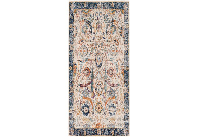 31X87 Rug-Katari Dark Blue/Orange - 360