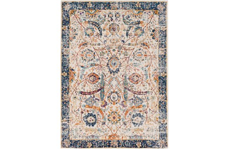 47X67 Rug-Katari Dark Blue/Orange