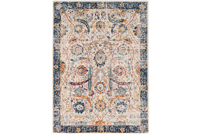 47X67 Rug-Katari Dark Blue/Orange - 360