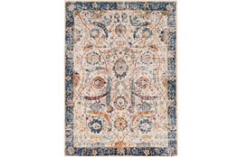 63X87 Rug-Katari Dark Blue/Orange