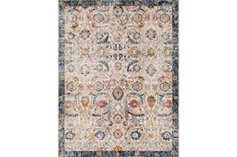 "7'8""x10'3"" Rug-Katari Dark Blue/Orange"