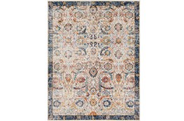 111X150 Rug-Katari Dark Blue/Orange
