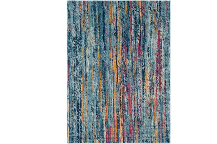 31X87 Rug-Ivete Striations Teal