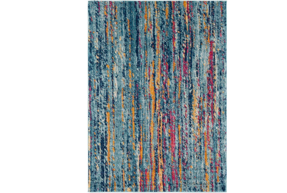 47X67 Rug-Ivete Striations Teal