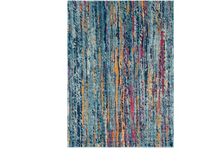 63X87 Rug-Ivete Striations Teal