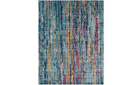 94X123 Rug-Ivete Striations Teal
