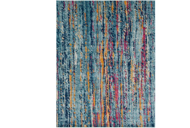 94X123 Rug-Ivete Striations Teal - 360