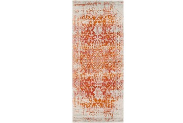 """2'6""""x7'3"""" Rug-Ivete Antique Medallion Orange"""
