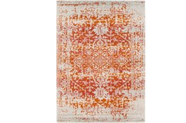 "3'9""x5'6"" Rug-Ivete Antique Medallion Orange"