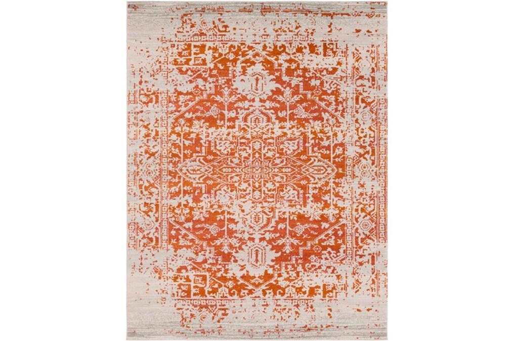 111X150 Rug-Ivete Antique Medallion Orange