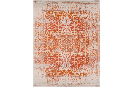 111X150 Rug-Ivete Antique Medallion Orange - Main