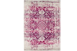 "2'6""x7'3"" Rug-Ivete Antique Medallion Garnet"