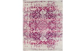 94X123 Rug-Ivete Antique Medallion Garnet