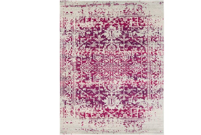 94X123 Rug-Ivete Antique Medallion Garnet - 360