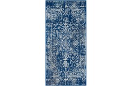 31X87 Rug-Ivete Dark Blue/Teal