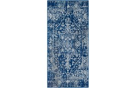 "2'6""x7'3"" Rug-Ivete Dark Blue/Teal"