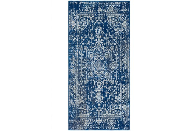 31X87 Rug-Ivete Dark Blue/Teal - 360