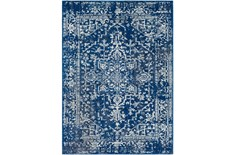 63X87 Rug-Ivete Dark Blue/Teal
