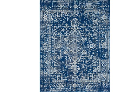94X123 Rug-Ivete Dark Blue/Teal
