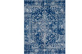 "9'2""x12'5"" Rug-Ivete Dark Blue/Teal"