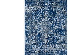 111X150 Rug-Ivete Dark Blue/Teal