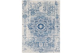 47X67 Rug-Ivete Antique Medallion Dark Blue