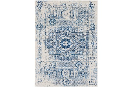 63X87 Rug-Ivete Antique Medallion Dark Blue