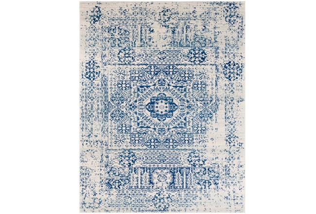 "9'2""x12'5"" Rug-Ivete Antique Medallion Dark Blue - 360"