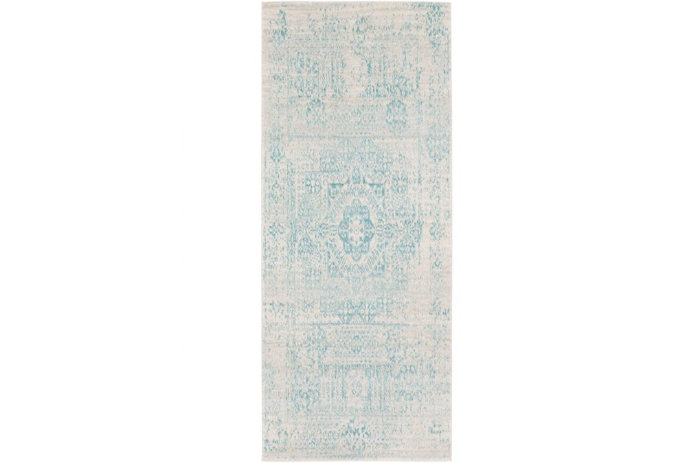 31X87 Rug-Ivete Antique Medallion Teal
