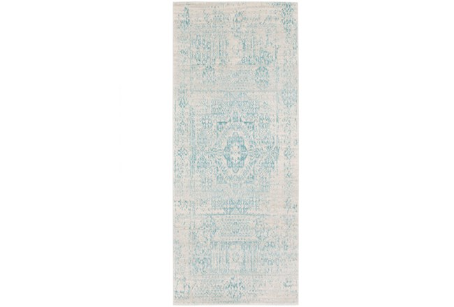 31X87 Rug-Ivete Antique Medallion Teal - 360