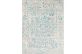 "9'2""x12'5"" Rug-Ivete Antique Medallion Teal"