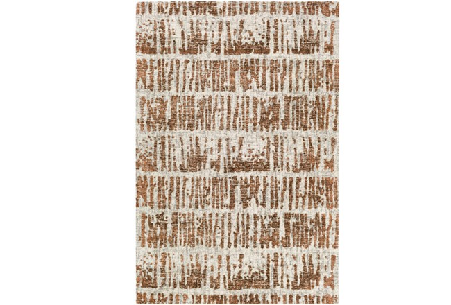 24X36 Rug-Stripe Boucle Orange - 360