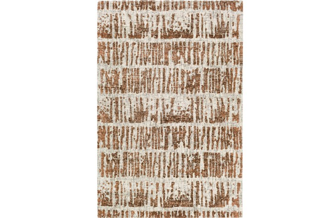 96X120 Rug-Stripe Boucle Orange - 360
