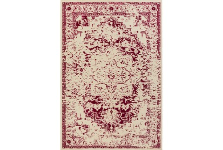 94X118 Rug-Khione Antique Raspberry