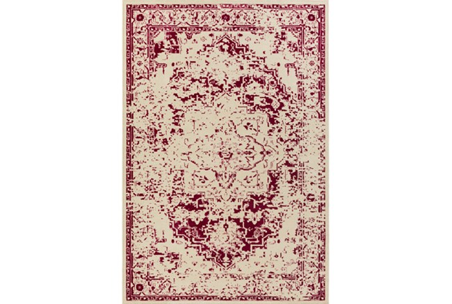 94X118 Rug-Khione Antique Raspberry - 360