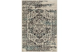 94X118 Rug-Khione Erased Traditional Grey/Teal