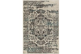 106X153 Rug-Khione Erased Traditional Grey/Teal