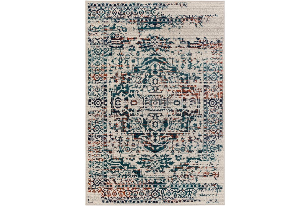 22X35 Rug-Khione Erased Traditional Teal/Orange