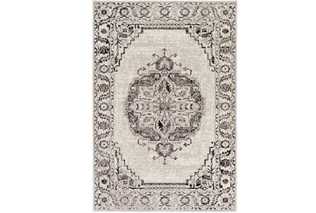 63X87 Rug-Khione Medallion Grey