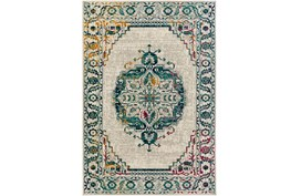 106X153 Rug-Khione Medallion Teal/Multi